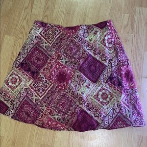 Pink and Cream Patterned Skirt